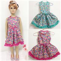 Peacemaker Girl dress girl clothing kids dress flower print princess ball gown  summer little girl dress sleeveless