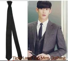man skinny slim neck ties black gravatas masculinas corbatas pajaritas (China (Mainland))