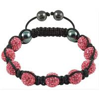 Pba030 Tresor Paris Eze Pink Crystal Bracelet , shamballa cz beads