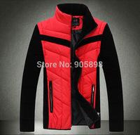 2015 new fashion slim men's jacket Casual men's coat Removable sleeves mens clothing men's vest plus size cotton coat 3509 red