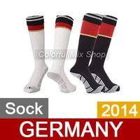 Free Shipping Germany Soccer Socks World Cup 2014 Top Thai Quality Germany jersey Socks Home Away football Socks