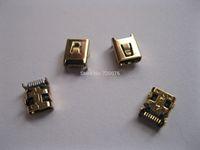 4 pcs Mini USB Jack Female Connector 8 Pin Gold