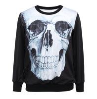 Europe and the United States 3D Skeleton digital printing head sweatshirts women fashion comfortable 3d hoodies Dropship XY022