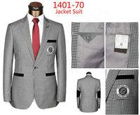 2015 high quality wool plaid suit jacket fashion csual Men business jacket newest brand dress coats 1PCS 1X43