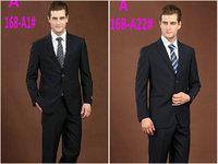 Wholesales Men wool suit Custom made Men Fashion Business Dress Suit Men black Jacket+ pants Brand Male formal prom suits 1X56