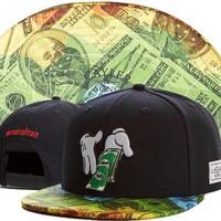 Cayler & Sons US dollar money snapback hat makeitrain mickey rolling hands baseball cap finger bboy bone gorras