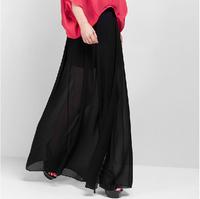 New Womens Open Side Split Skirt,Solid tropical Chiffon Long Maxi Bohemian skirts,girl sexy skirts,plus size M/L/XL/XXL/3XL