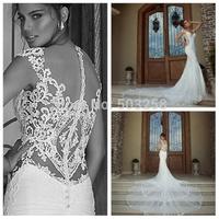 DWD1 Sweetheart Tulle See Through Glalia  Lahav Hot Selling 2015 Mermaid Wedding Dress Bridal Gown
