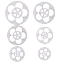 6Pcs DIY Rose Flower Mold Cutter for Fondant Cookie Cake Chocolate Decorating