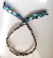2015 New Arrival freeshipping wholesale fashion floral fabric chain bunny ear elastic headband popular hair accessories