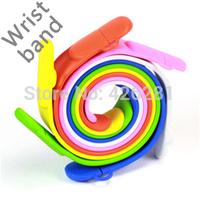 Mix color !New Rubber PVC Wrist band Bracelet Usb flash drive Pen drive Usb memory stick usb disk 1GB 2GB 4GB 8GB 16GB 32GB