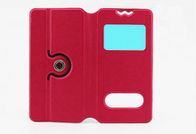 HotSell Small View Flip Leather Case Cover for Lenovo A300T 4 4 Inch 4inch Android Phone