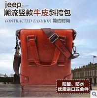 2015 vintage genuine leather men messenger bags cowhide designer handbags high quality business casual men briefcase laptop bag