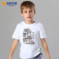 2014 Kids Summer boys t-shirt short-sleeved t-shirt children's summer  cotton casual