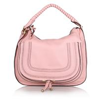 Top quality original brand marcie saddle real calf leather pink women handbag shoulder bag fashion gift free shipping wholesale