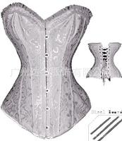 hot sale women's corset  bustiers sexy embroidery corset top steel boned plus size women corselets intimates lingerie CST008