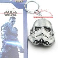 Retail 1pcs Free Shipping Star Wars The Clones Trooper Keychain Metal Toy Pendant Fashion Key chain for Men Women