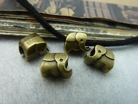 Min.order is $8(mix order) 50pcs 7*8*10mm Vintage Antique Bronze elephant Charm pendant,connector findings,Free Shipping c6008