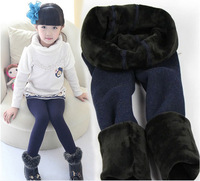 Pls buy any 2pcs in shop SML children autumn winter thicken legging  warm pants  girl  thermal trousers girls leggings 4colors