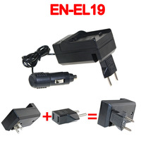 Battery Charger+Car charger+Plug adapter for Nikon MH-66 EH-69P EN-EL19 ENEL19 EL19 Coolpix S4300 S4200 S3300 S3200