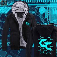 High Quality Anime Hoody Guilty Crown Winter Thicken Sweatshirt Jacket Hoodie Coat Unisex Coat