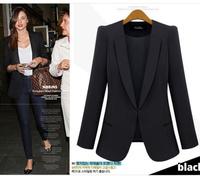 Free shipping 2014 fashion women autumn cotton blazers plus size high quality europe women's suits coat l1343