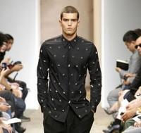 Gvc 2014 metal five star rivet shirt slim male fashion male shirt fashion