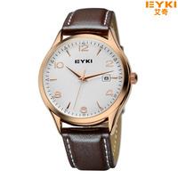 Promotion EYKI Luxury Brand Men'S Business Casual Men Calendar Watch Sports Leather Quartz Watch Free Shipping