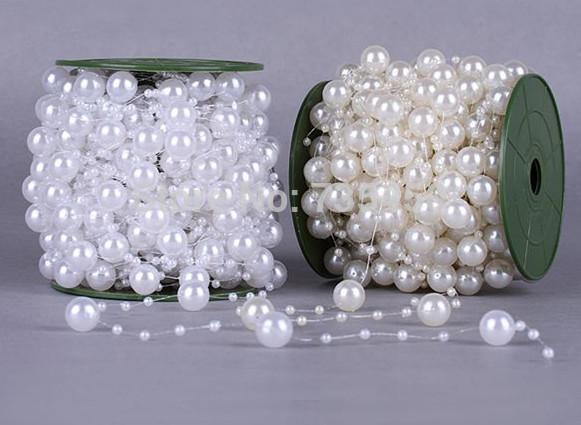 5M Pearls Beads Chain Garland Flowers Wedding Party Decoration Bead Chain DIY crafts garland birthday decoration accessories(China (Mainland))