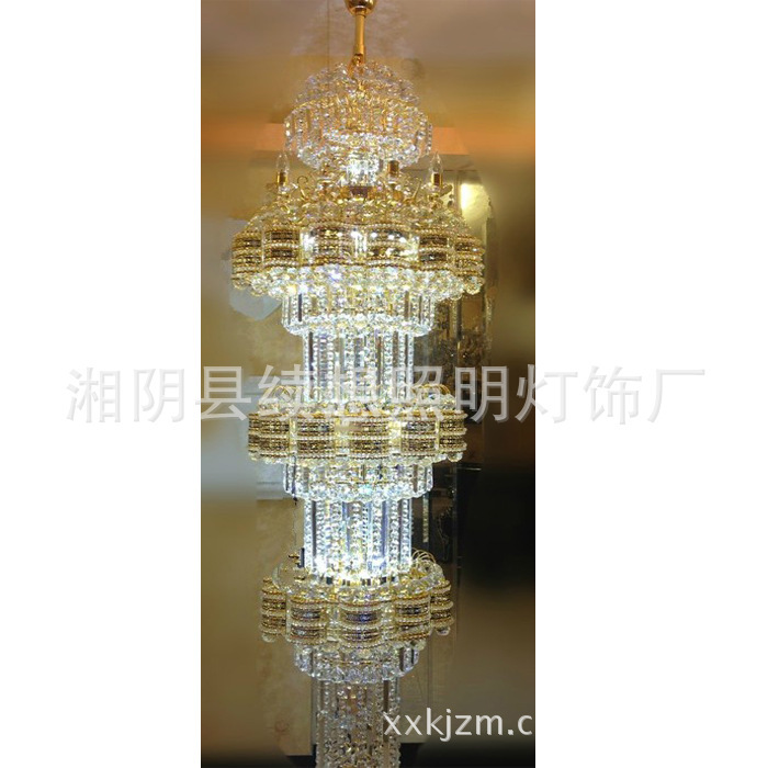 Supplying LED SMD crystal staircase chandelier lamp hotel project engineering villa hotel crystal chandelier lamp(China (Mainland))