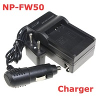 Battery Charger + Car Charger + Plug For Sony NP-FW50 NPFW50 FW50