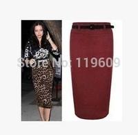 Free Shipping Women Wool Skirts Plus Size Fashion Formal Suit Skirt Women Pencil Skirts 2015 Casual