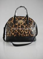 DA273 V Graciously Fashion Leopard Shell genuine leather 100% hasp handbag Shoulder Bag wholesale drop shipping free shipping