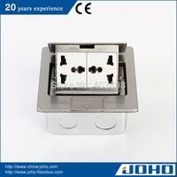 DCT-M28/PBD IP44 Waterproof Slow Pop Up Type Stainless Steel Floor Boxes