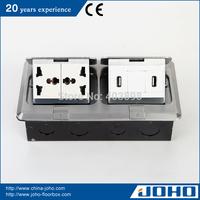 DCT-638/LB IP44 Waterproof Aluminum Fast Pop Up Type Floor Box