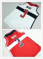 Cheap Wholesale 3 Bradley Beal New Material Jersey Washington white red Rev 30 Embroidery Logos Basketball Jersey Size S-XXXL