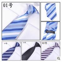 New Arrival Gentlemen Neckties Fashion Casual Solid Striped Neck Ties 145cm*8cm Banquet Wedding Tie Necktie Gravata Male