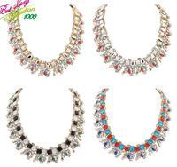 2015 New Arrival Fashion Gem Crystal Shourouk ZA Big Brand Vintage Necklaces Statement Necklace & Pendant Women 9787