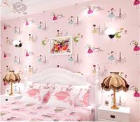 Eco-friendly non-woven wallpaper modern Pink child cartoon wallpaper ofhead beijingqiang