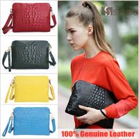 SHUBO New Arrival 2015 Fashion Genuine Leather Crocodile Women Handbag Shoulder Bag Crossbody Bags Clutch Handbag 18 Color SW030