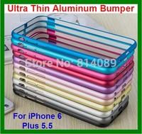 100pcs/lot DHL Free Shipping Ultra Thin Aluminum Bumper Case for iPhone 6 Plus 5.5