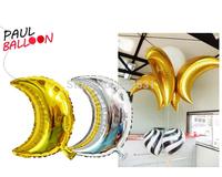 "Medium SIZE 22"" Monochrome moon foil balloons  Wholesale Various WEDDING Aluminum Foil cartoon balloons, Baby's Toy & Gift."