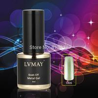 New Arrival color 24PCS UV gel soak-off gel nails Heavy Metal Texture The best Metallic gel for nails varnish