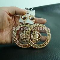 Moco-08 Knocker Lion Earrings Round Fashion Earrings Woman Party Earrings