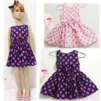 Peacemaker chiffon Girl dress girl clothing kids dress flower print princess ball gown  summer little girl dress sleeveless