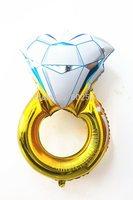 43-inch oversized balloon big diamond ring foil balloon Wholesale Various Aluminum Foil cartoon balloons, Baby's Toy Gift.