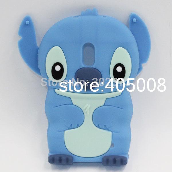 Dekking van het geval voor lumia 620 3d mooie cartoon cute oor blauwe