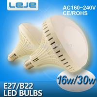 LED bulb lamp bulbs led lights E27 B22  16W 30W  5630SMD Cold white/warm white AC220V 230V 240V Free shipping