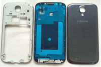 Original Dark blue Full Housing For Samsung Galaxy S4 i9505 Repair Parts Front frame+Middle Frame+battery cover +buttons
