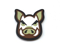 Free Shipping Jungle Pig Banner 3D PVC Patch Armband Rubber Tactical Gear Patch Badge